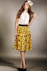 Floral Midi Skirts