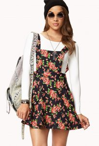Floral Overall Skirt