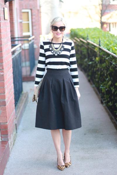 Black A Line Denim Skirt 2017 | Dress Ala - Part 985