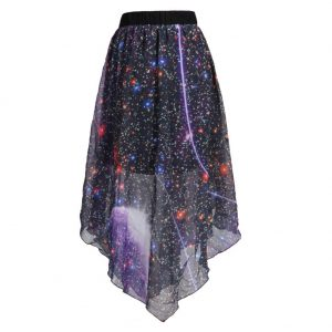 Galaxy High Low Skirt