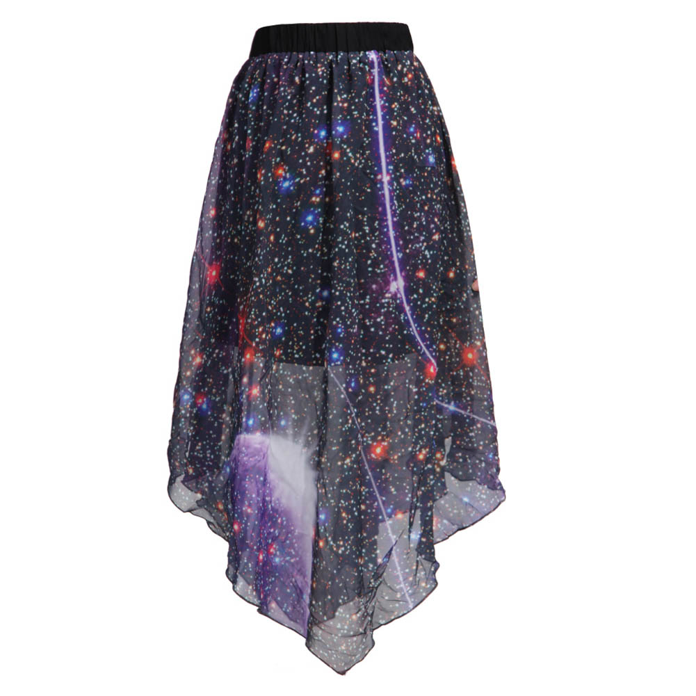 galaxy skirt dressed up