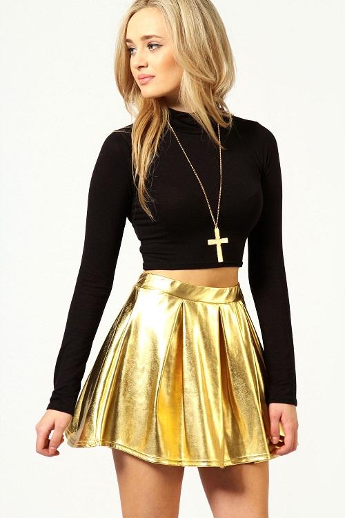 Gold Skirt Dressed Up Girl