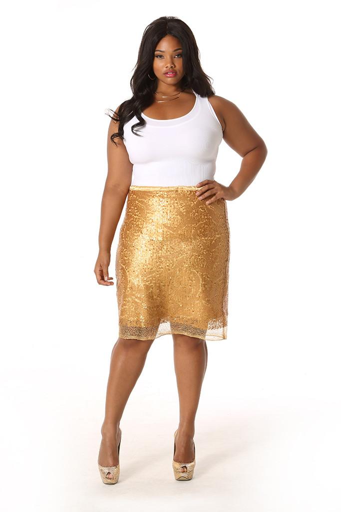 Gold Skirt | Dressed Up Girl