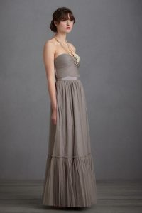 Gray Tulle Gown