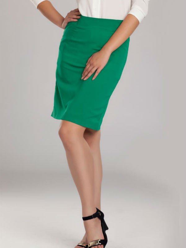 green skirt dressed up