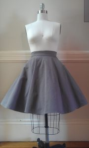 Grey Circle Skirt