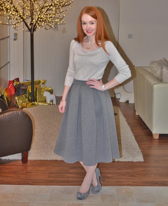 Gray Midi Skirt - Skirts