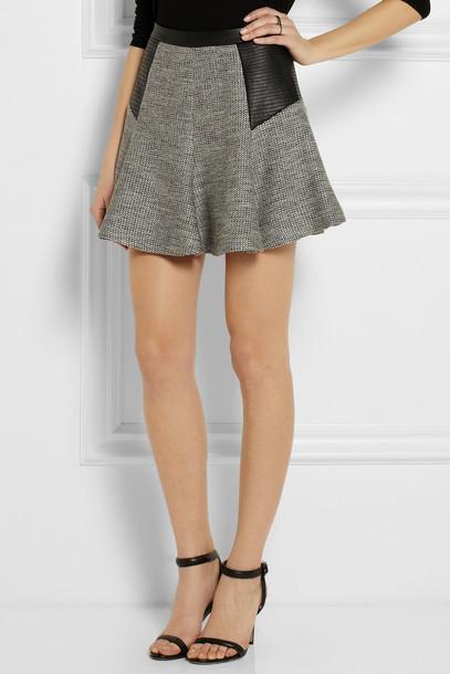 grey skirt dressed up girl