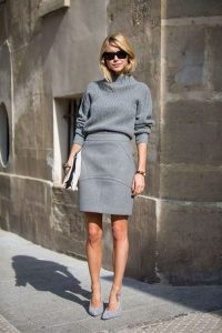 Grey Skirt Style