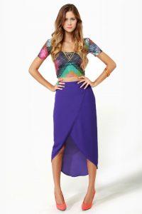 High Low Tulip Skirt