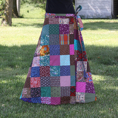 patchwork skirts hippie