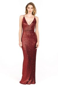 Images of Red Sequin Gown