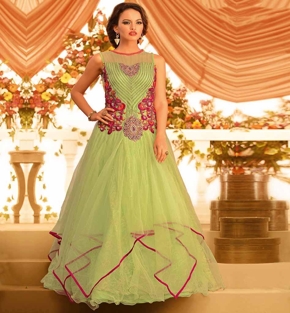 Indian Wedding Long Gowns: DressedUpGirl.com