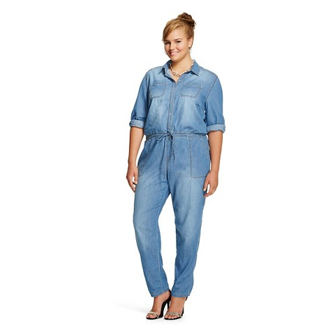 c719fee23969 Jean Jumpsuit Plus Size