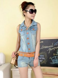 Jean Jumpsuit Shorts