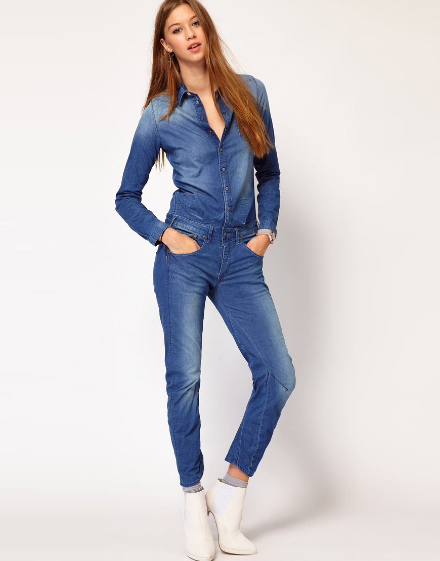 deb632d16176 Jumpsuits For Girls In Denim