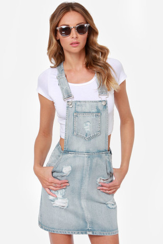 overall skirt dressed up