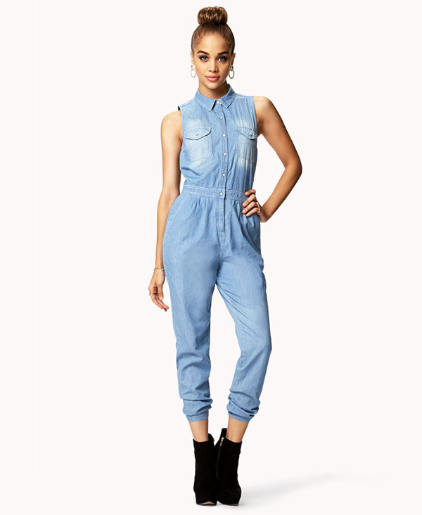 Jean Jumpsuit | Dressed Up Girl
