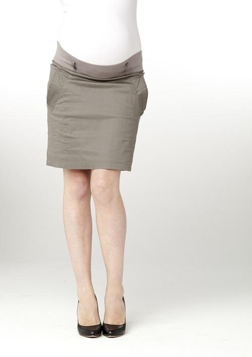 Manuel long khaki maternity skirt With more