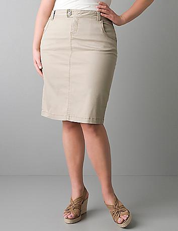 8652be449c18b Khaki Skirt Plus Size
