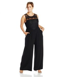 Lace Jumpsuit Plus Size
