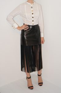 Leather Fringe Skirt