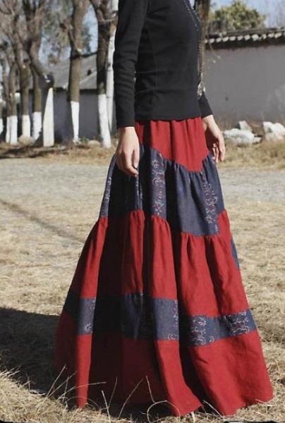 Est long bohemian skirt you