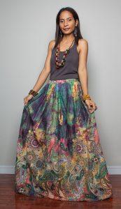 Long Boho Skirt