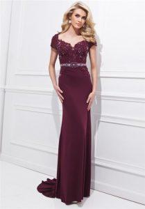 Long Burgundy Gown