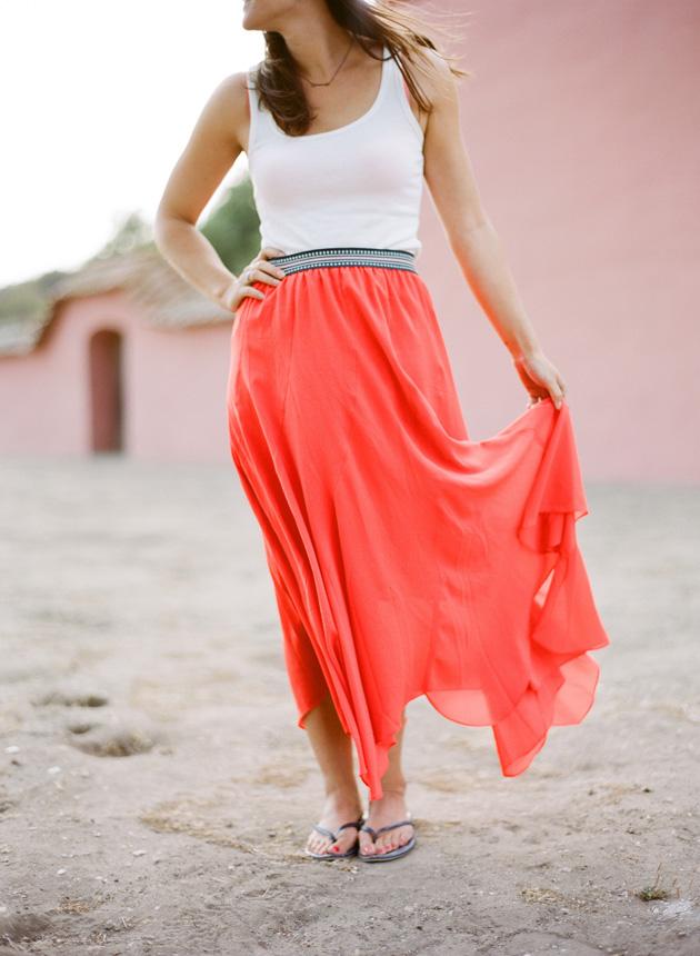 Orange Skirt Dressedupgirl Com