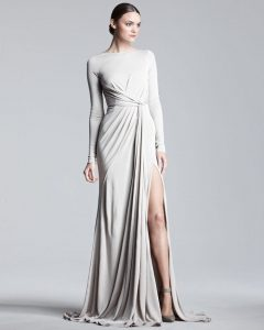 Long Sleeve Jersey Gown