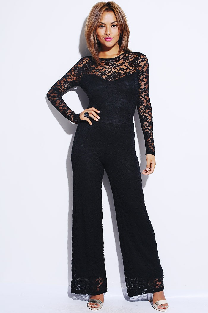Casual V Neck Nine Sleeve Long Women's Jumpsuit. Denim Long Sleeve Pocket Women's Jumpsuit. Button Pocket Selvedge Women's Jumpsuit. Short Sleeve Floral Print V Neck Women's Jumpsuit. Floral Print Elastic Waist Strap Women's Jumpsuit. Lace Sequin Halterneck Double Layered Women's Jumpsuit.