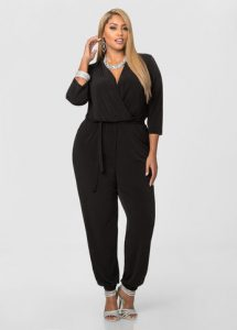 Long Sleeve Plus Size Jumpsuit
