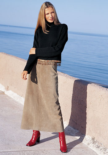 Suede Skirt Dressed Up Girl