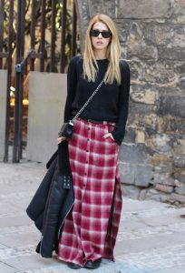 Long Tartan Skirts
