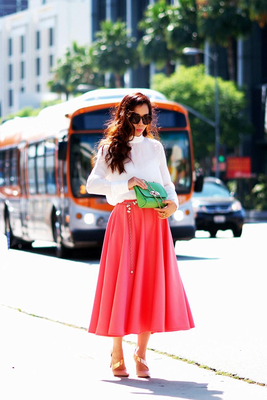 Midi Full Skirt - Skirts