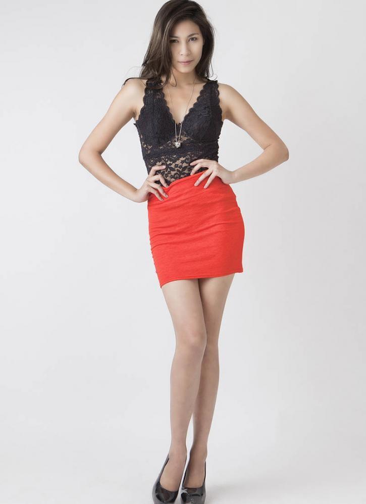 Mini Bodycon Skirt - Skirts