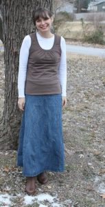 Modest Denim Skirts