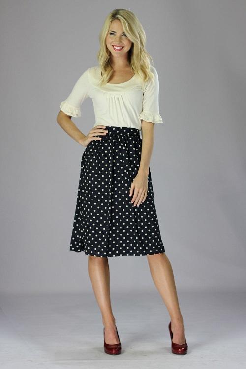 Modest Skirts Dressed Up Girl