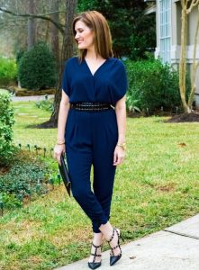 Navy Blue Jumpsuit Outfit