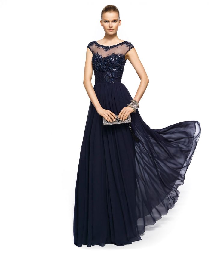 Images of Navy Evening Gown - Reikian