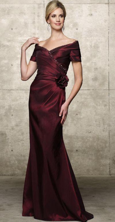 off the shoulder evening dress - Dress Yp