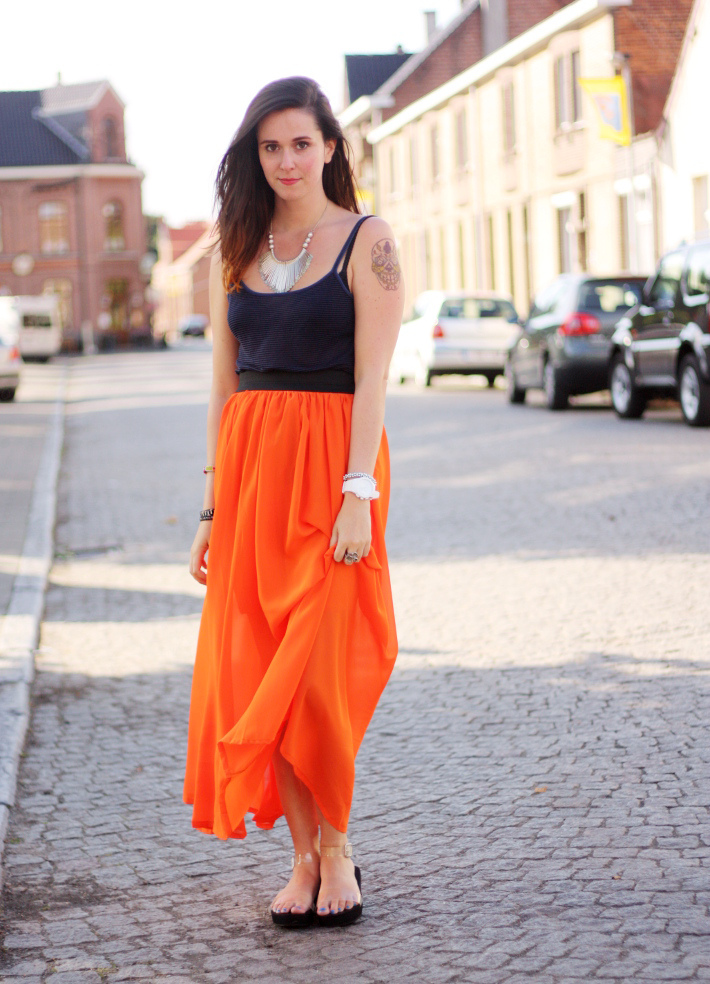 Orange Skirt | Dressed Up Girl