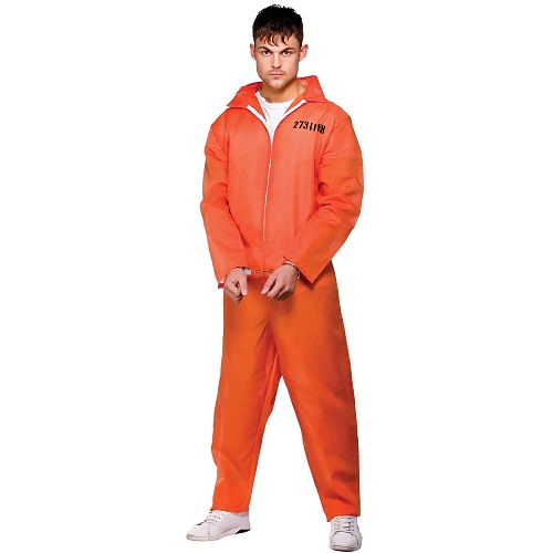 Fantastic Women39s Orange Prison Jumpsuit  WomanInmate ManGuard