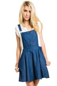 Overall Jean Skirt
