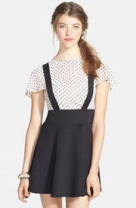 Overall Skirt Black