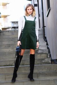Overall Skirt Outfit
