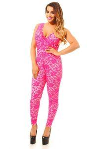 Pink Lace Jumpsuit