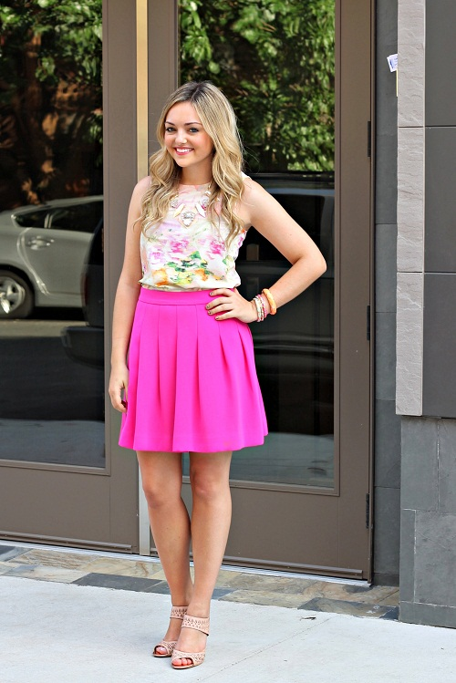 Pink Skirt Dressed Up Girl