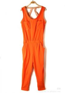 Plain Orange Jumpsuit